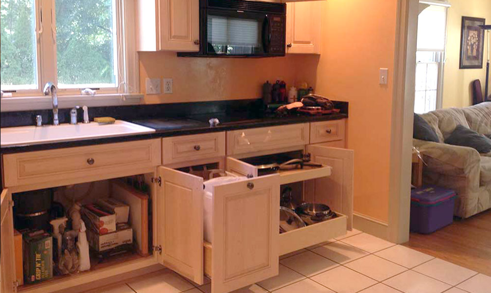 After Lower Pull Out Cabinets