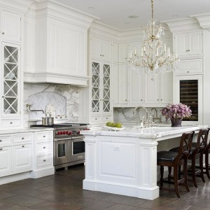 white sparkly kitchen