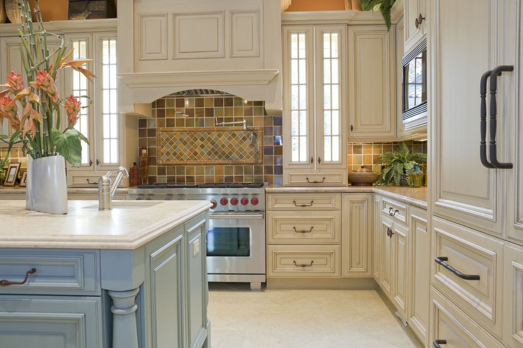 white kitchen boston cabinet cures