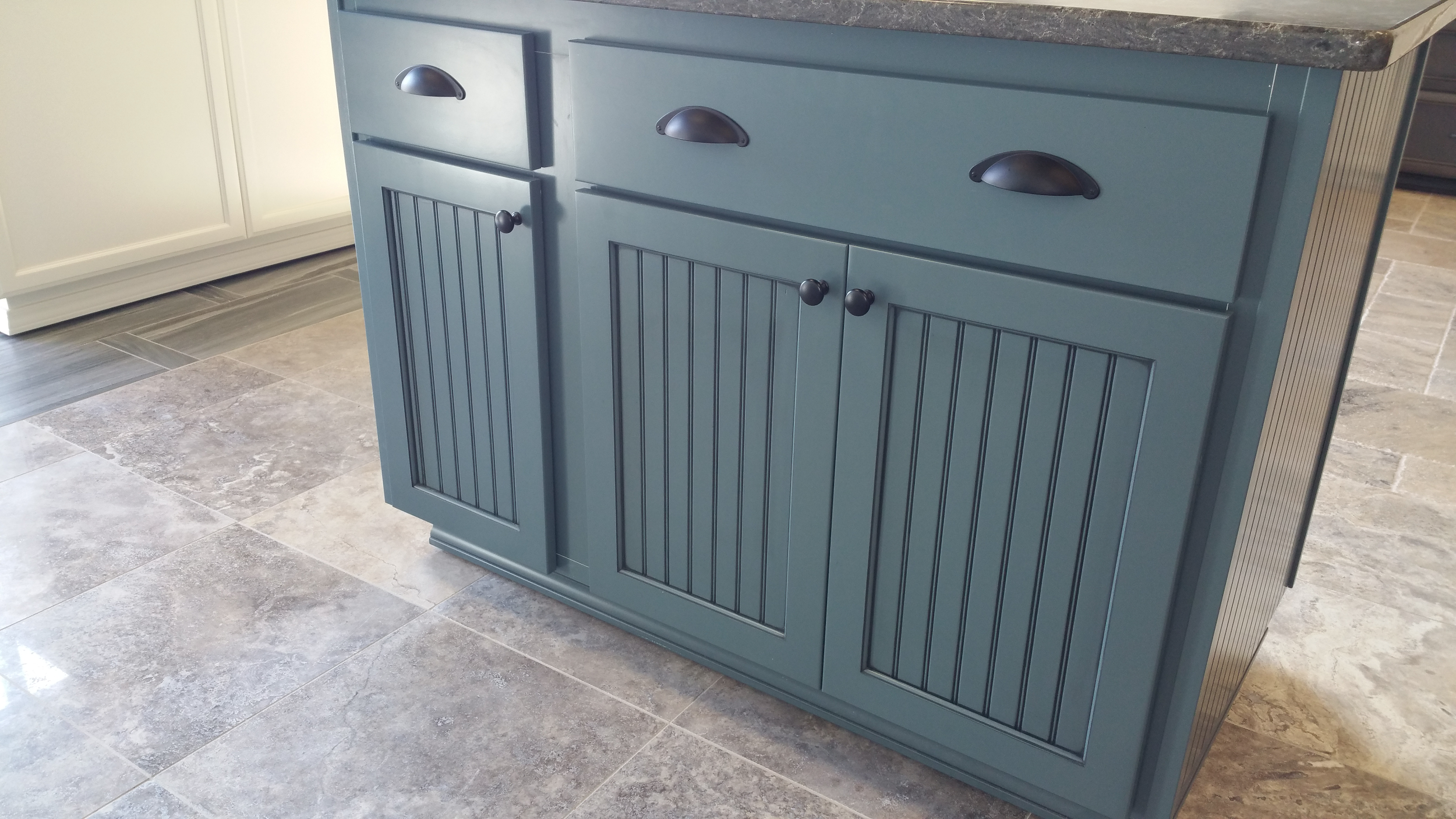 blue painted island cabinets boston cabinet cures