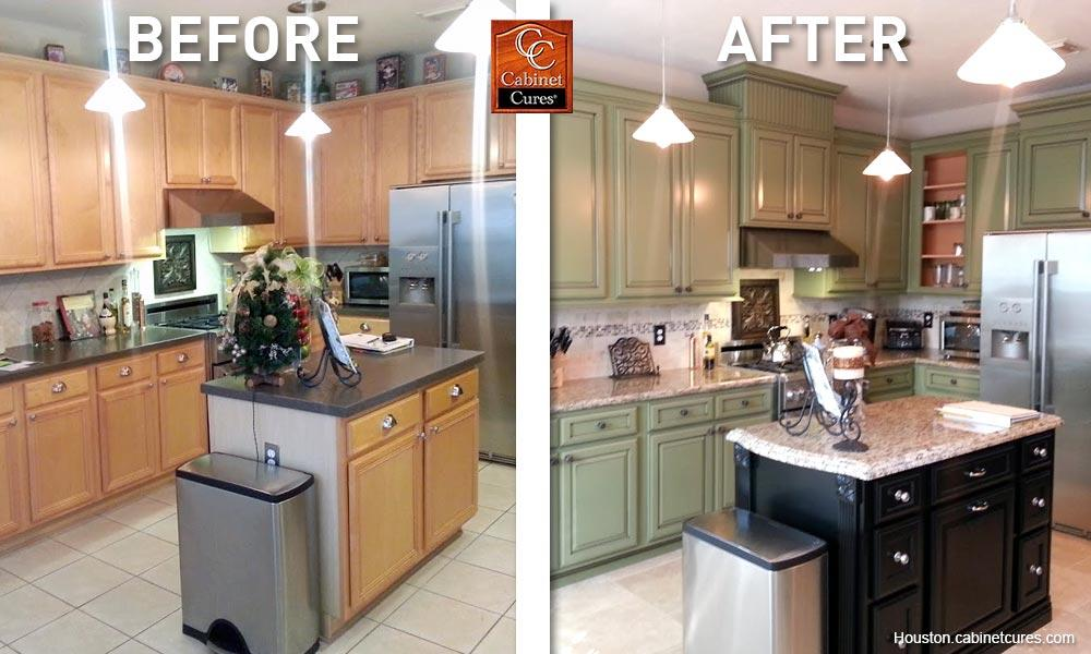 before and after kitchen cabinet remodel boston cabinet cures