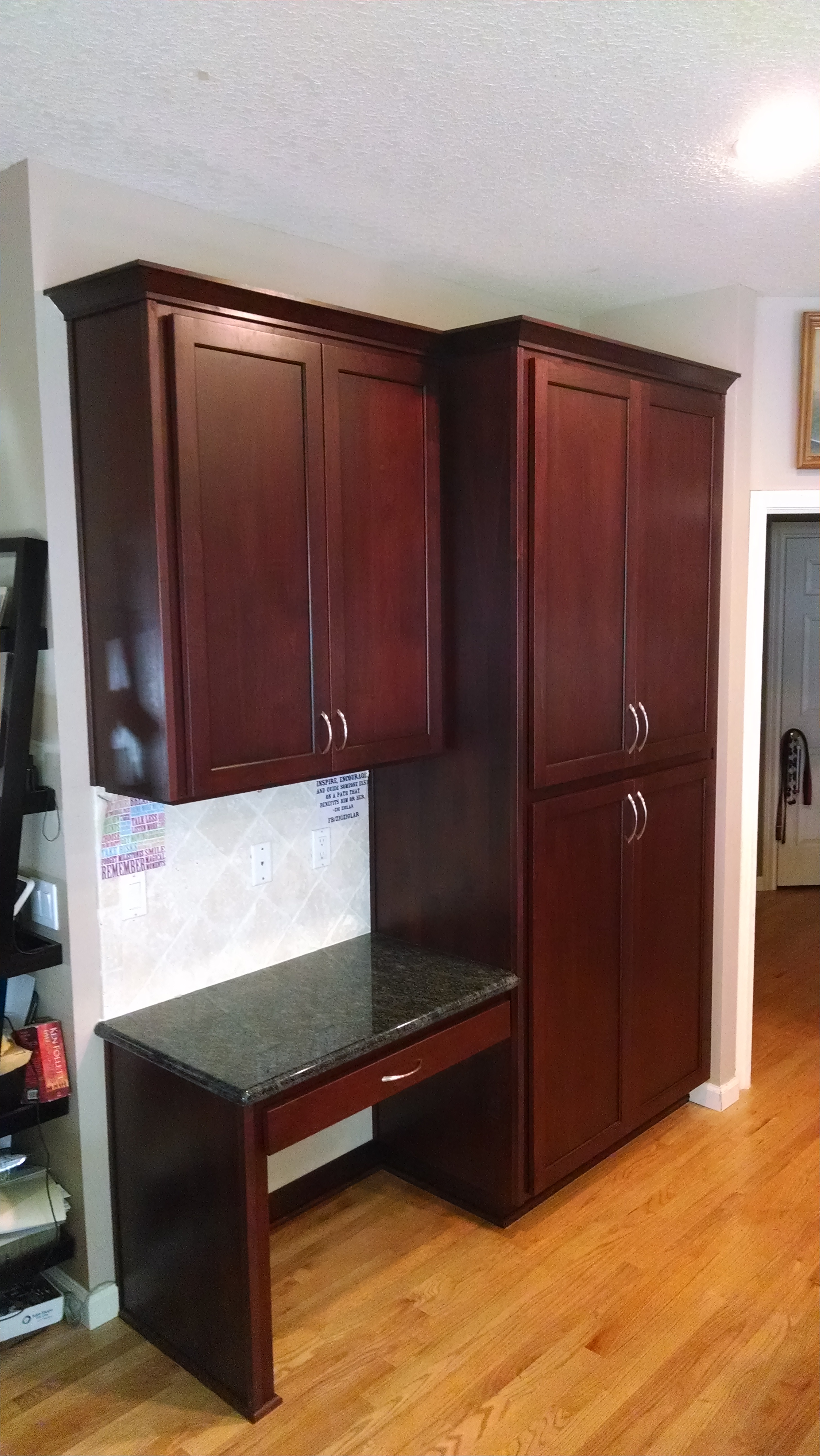Red Stained Shaker Kitchen Cabinet Doors - Cabinet Cures of ...
