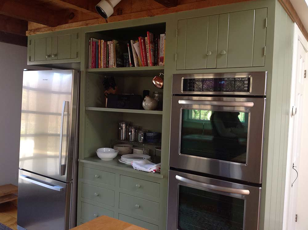 green kitchen cabinets open shelves boston cabinet cures