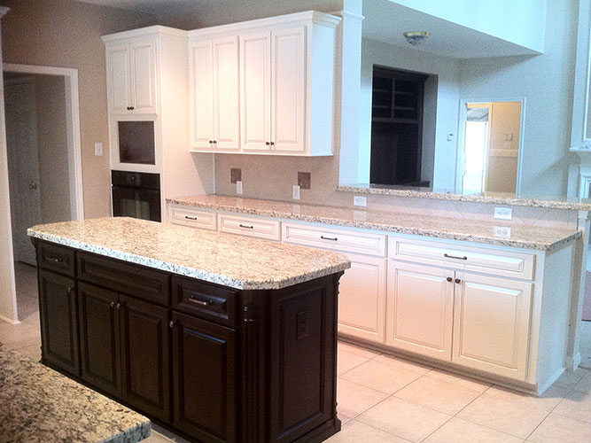 White Kitchen Refacing by Boston Cabinet Cures