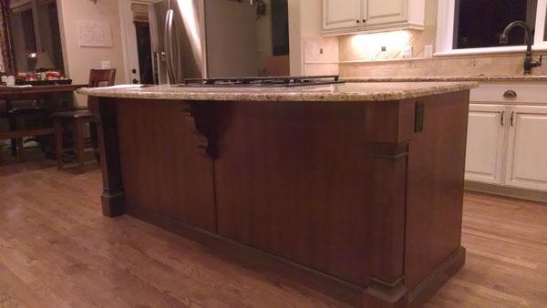 modern corbel red kitchen island boston cabinet cures