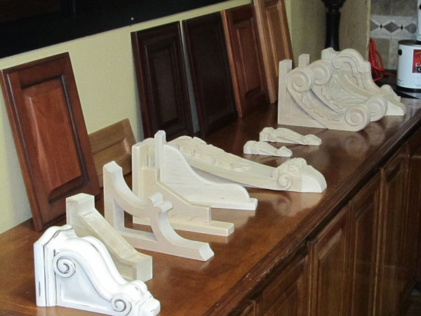 unpainted wood corbels boston cabinet cures