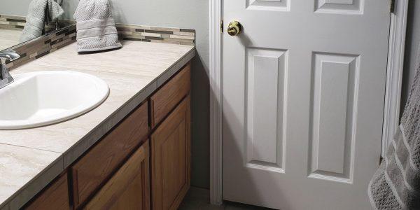 tile counter bathroom